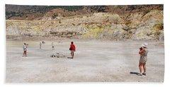 Nisyros Volcano Greece Beach Towel