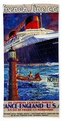 No Better Advice Than To Travel - French Line Beach Towel