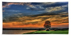 No Better Day Golf Landscape Art Beach Towel