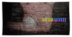 No Graffiti Beach Towel