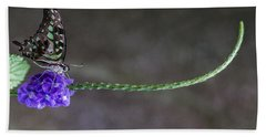 Beach Towel featuring the photograph Butterfly - Tailed Jay II by Patti Deters