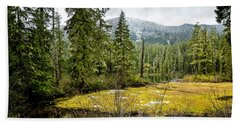 Beach Towel featuring the photograph No Man's Land by Belinda Greb