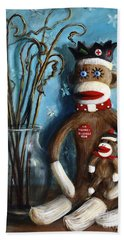 No Monkey Business Here 1 Beach Towel