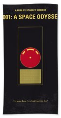 No003 My 2001 A Space Odyssey 2000 Minimal Movie Poster Beach Towel