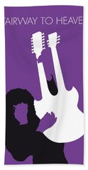 No011 My Led Zeppelin Minimal Music Poster Beach Towel by Chungkong Art