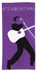 No021 My Elvis Minimal Music Poster Beach Towel