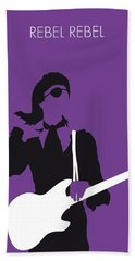 No031 My Bowie Minimal Music Poster Beach Towel