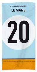 No038 My Le Mans Minimal Movie Poster Beach Towel