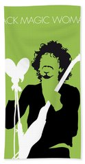 No046 My Santana Minimal Music Poster Beach Towel by Chungkong Art