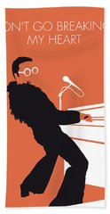 No053 My Elton John Minimal Music Poster Beach Towel by Chungkong Art