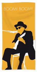 No054 My Johnny Lee Hooker Minimal Music Poster Beach Towel by Chungkong Art