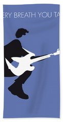 No058 My The Police Minimal Music Poster Beach Towel by Chungkong Art