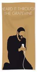 No060 My Marvin Gaye Minimal Music Poster Beach Towel