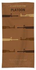 No115 My Platoon Minimal Movie Poster Beach Towel