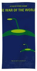 No118 My War Of The Worlds Minimal Movie Poster Beach Towel