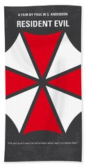 No119 My Resident Evil Minimal Movie Poster Beach Towel