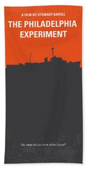 No126 My The Philadelphia Experiment Minimal Movie Poster Beach Towel by Chungkong Art