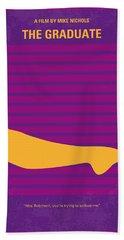 No135 My The Graduate Minimal Movie Poster Beach Towel