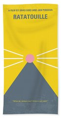 No163 My Ratatouille Minimal Movie Poster  Beach Towel