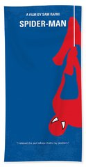 No201 My Spiderman Minimal Movie Poster Beach Sheet by Chungkong Art