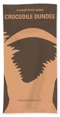 No210 My Crocodile Dundee Minimal Movie Poster Beach Towel by Chungkong Art