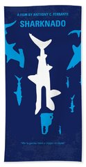 No216 My Sharknado Minimal Movie Poster Beach Towel by Chungkong Art