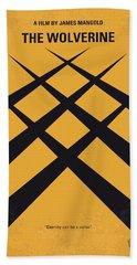 No222 My Wolverine Minimal Movie Poster Beach Towel