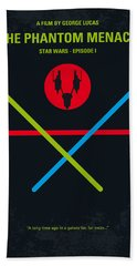 No223 My Star Wars Episode I The Phantom Menace Minimal Movie Poster Beach Towel