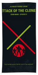No224 My Star Wars Episode II Attack Of The Clones Minimal Movie Poster Beach Towel