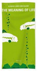 No226 My The Meaning Of Life Minimal Movie Poster Beach Towel