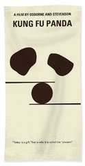 No227 My Kung Fu Panda Minimal Movie Poster Beach Towel