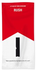 No228 My Rush Minimal Movie Poster Beach Towel