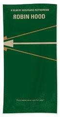 No237 My Robin Hood Minimal Movie Poster Beach Towel