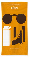 No239 My Leon Minimal Movie Poster Beach Towel