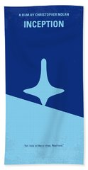 No240 My Inception Minimal Movie Poster Beach Towel