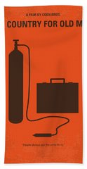 No253 My No Country For Old Men Minimal Movie Poster Beach Towel