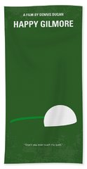 No256 My Happy Gilmore Minimal Movie Poster Beach Towel by Chungkong Art