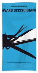 No260 My Scissorhands Minimal Movie Poster Beach Towel