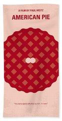 No262 My American Pie Minimal Movie Poster Beach Towel