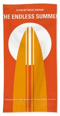 No274 My The Endless Summer Minimal Movie Poster Beach Towel by Chungkong Art