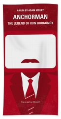 No278 My Anchorman Ron Burgundy Minimal Movie Poster Beach Towel