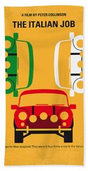 No279 My The Italian Job Minimal Movie Poster Beach Towel