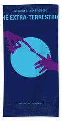 No282 My Et Minimal Movie Poster Beach Towel