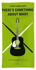 No286 My There's Something About Mary Minimal Movie Poster Beach Towel