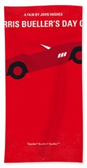 No292 My Ferris Bueller's Day Off Minimal Movie Poster Beach Towel