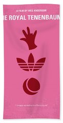 No320 My The Royal Tenenbaums Minimal Movie Poster Beach Towel