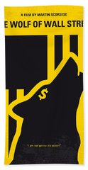 No338 My Wolf Of Wallstreet Minimal Movie Poster Beach Towel