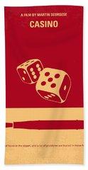 No348 My Casino Minimal Movie Poster Beach Towel
