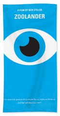 No362 My Zoolander Minimal Movie Poster Beach Towel
