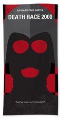 No367 My Death Race 2000 Minimal Movie Poster Beach Towel